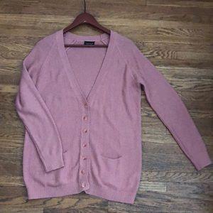 Topshop pink cardigan